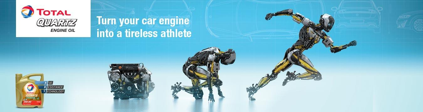 Robot Quartz 4 Engine Oil - Turn your car into a tireless athlete